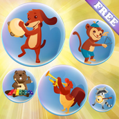 Music Bubbles for Toddlers and Kids : Musical Instruments and sounds !