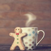 Cookie and hot chocolate Wallpaper