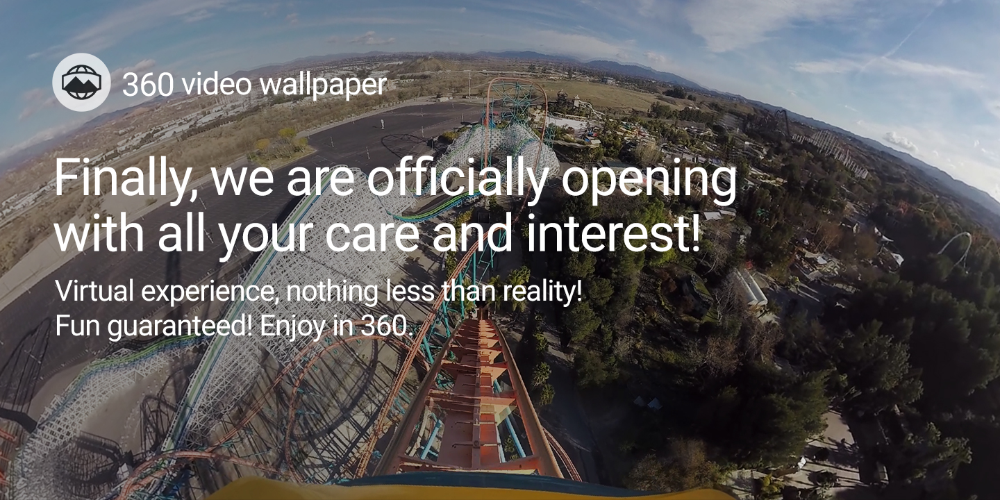 [Finally, we are officially opening with all your care and interest!]